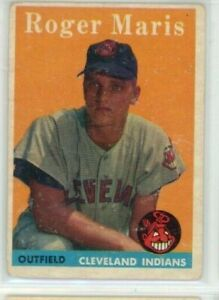 1958 Topps ROGER MARIS RC #47 Cleveland Indians Rookie