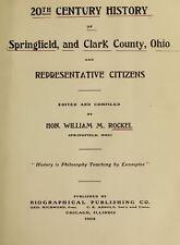 1908 SPRINGFIELD & CLARK County Ohio OH, History and Genealogy Ancestry DVD B14