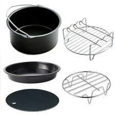 Air Fryer Accessories 5PC Baking Basket Grill Pizza Grill Pan 6/7in  3.5-5.8QT