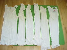 Lot of 6 VTG Hanes & Fruit of Loom Wife beater Shirts/Muscle Tank Top Small S/M