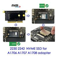 "NVMe M.2 NGFF SSD for late 2016-2017 13"" MacBook Pro A1708 Upgrade Adapter card"
