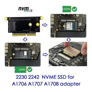 """NVMe M.2 NGFF SSD for late 2016-2017 13"""" MacBook Pro A1708 Upgrade Adapter card"""