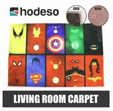 Hodeso Living Room Fiber Carpet Anti-Skid Shaggy Floor Mat (Superheroes)