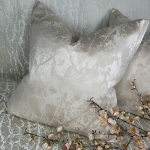 """Luxury Cushion Cover 16"""" Oyster Champagne Decor   Marble Effect STUNNING!"""