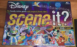 Disney Scene It? Trivia Family DVD Game Mattel 2004 Collection Complete