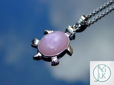 Rose Quartz Turtle Natural Gemstone Pendant Necklace 50cm Healing Stone