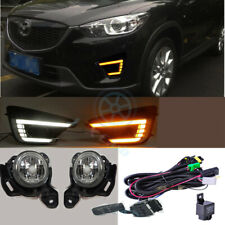 For Mazda CX-5 2012-2016 Daytime Running Light LED DRL Fog Harness SWITCH Set j