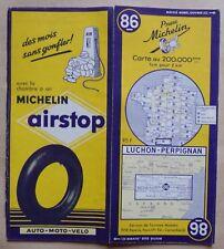 #) carte MICHELIN 86 LUCHON - PERPIGNAN 1954