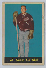 1960-61 PARKHURST #23 COACH SID ABEL DETROIT RED WINGS