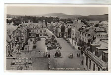 The Square - Huntly Real Photo Postcard c1940s / Aberdeen