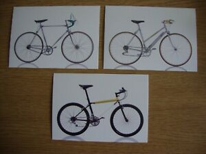 Cycles 3 x New, Unused Postcards of Iconic Bicycles- Caminade, Slingshot, Select
