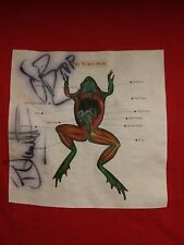 THE VERVE PIPE rare VINTAGE T SHIRT RED WITH DEAD FROG SIGNED BY 2 memebers