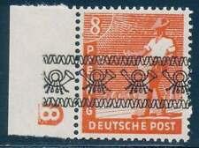 Bizone Nr. 38 I DZ postfrisch / **, Randstück mit Druckerzeichen 8 (40918)