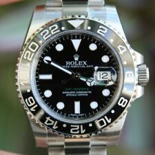 Rolex 40mm GMT Master II 116710 Mens Stainless Steel New Black Ceramic Bezel Lat
