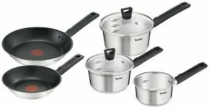 Tefal Simpleo Milk pan, Saucepan with Lids & Frypan Stainless Steel Induction