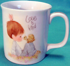 1983 Precious Moments Cup Mug Love Is King Boy, Turtle & Butterfly