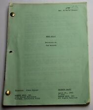 Free Willy * 1992 Original Movie Script Screenplay * Jason James Richter