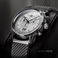 Zeppelin 7690M-1 Massive Herren Armbanduhr Chronograph mit Milanaiseband