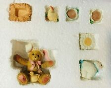 Very Rare Cherished Teddies 726672 10 Piece Easter Tea Set Lamb Hen Rabbit Hat !
