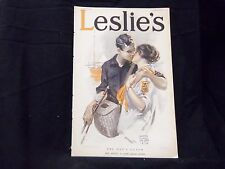 1913 JULY 17 LESLIE'S WEEKLY MAGAZINE - COCA COLA AD ON BACK COVER - ST 1238