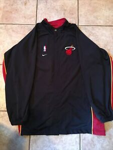 Miami Heat NBA Authentic Nike Men's Nylon Warm Up Jacket Size L