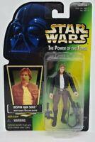 1997 Hasbro Star Wars POTF2 Han Solo BESPIN MOC POWER OF THE FORCE GREEN CARD