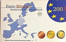 Germany 2003 F Euro Official Coin Set Stuttgart Mint Special Edition Deutschland