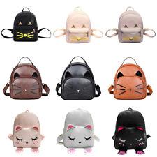 New Cute Girl Leather Backpack Shoulder Bags Travel Handbag School Bags 3 Colors