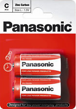 Panasonic C Battery Batteries New Zinc Carbon R14 1.5V Exp +2Years