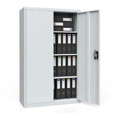 armoire-fichier armoire de bureau à outils armoire métallique gris 85x140x39