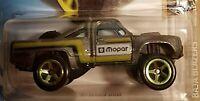 Hot Wheels 2019 HW Baja Blazers Gray '87 Dodge D100 Mopar Firestone Race Car Toy