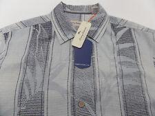 Tommy Bahama Camp Shirt Shades Of Bamboo Concrete 100% Silk T316703 New Medium M