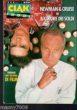 CIAK=N°2 FEBBRAIO 1987=PAUL NEWMAN E TOM CRUISE - IL COLORE DEI SOLDI