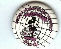 GLOBE Trotters pinback Member  MICKEY MOUSE Pin Collectible Button