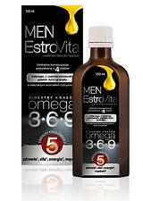 EstroVita MEN 150 ml with OMEGA-3-6-9 FOR MEN, UNIQUE OMEGA 5! Free P&P