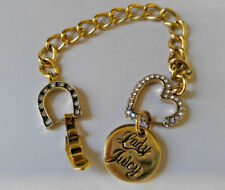 Lady Juicy Gold Tone Bracelet Love and Good Luck Charms