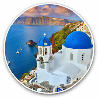 2 x Vinyl Stickers 10cm - Santorini Greece Greek Travel Beach Cool Gift #24142