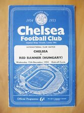 CHELSEA v RED BANNER Friendly 1954/1955 *VG Condition Football Programme*