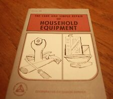 The Care and Simple Repair of Household Equipment