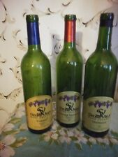 New listing Lot of 12 empty Wine Bottles-Green Bordeaux-w/ Labels