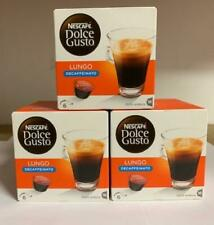 NESCAFÉ DOLCE GUSTO Lungo Decaff Coffee Pods, 16 Capsules (Pack of 3 - Total 48