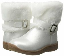 OshKosh B'gosh TODDLER GIRLS LIA WHITE FAUX FUR LINED WINTER BOOTS SIZE 6M NEW