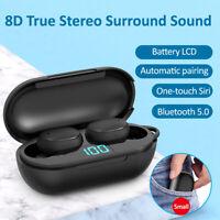 Bluetooth 5.0 Wireless Headphone TWS Mini Stereo Earphones for iOS Android Phone