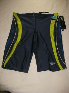 NWT Men's Speedo Performance Powerflex Racing Suit Navy Size 34