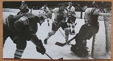 Old Russian USSR Canada Champion Real Photo Card Hockey stick Game Command vtg