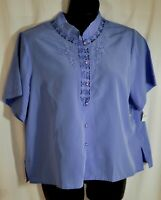 womens maurada light purple dressy top size 20W short sleeves oriental brand new