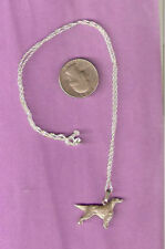 """Irish or English Setter Silver Necklace and Pendant 20"""" Chain Last One!"""