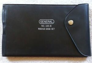 GENERAL MACHINIST NO. 435-B RADIUS GAGE SET
