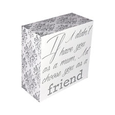 INSPIRATIONAL WOODEN BLOCK SIGN - FREE STANDING OR HANGING, QUOTE, GIFT