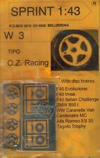 "Sprint W1 1:43 Räder Wheel BBS RS 15"" BMW M3 E30 850  Porsche 968 911 Jaguar"